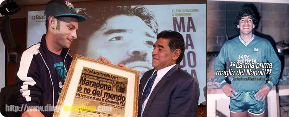 97 - Maradona sul social network, mette in rete una sua foto con la maglia del Napoli. (97)