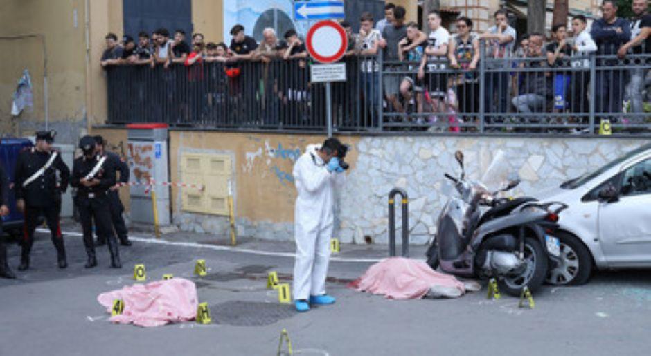 rid154 -  Napoli, pistola contro i militari: tre giovani arrestati sul luogo dell´omicidio di zio e nipote (rid154)